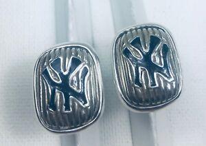 Yankees cufflinks Artisan made sterling silver