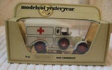 MATCHBOX YESTERYEAR MODEL ** CROSSLEY AMBULANCE 1918 ** Y-13 - CODE 3 - BOXED