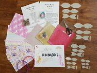 Hair Bow Making Starter Kit fabrics glitters clips hairbands templates and more