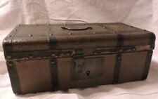 malle ancienne poupée bois et toile enduite jouet ancien old doll trunk SFBJ ?
