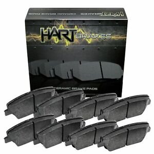 For 1999-2002 Daewoo Leganza Hart Brakes Front Rear Ceramic Brake Pads