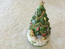 Ceramic Christmas Tree Music Box Plays Jingle Bells