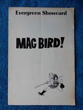 Mac Bird! - Garrick Theatre Playbill - 1967 - Wayne Tippit - Deborah Gordon