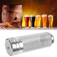 Homebrew Beer Basket Hop Hopper Stainless Steel + Brush Filter Strainer Mesh W
