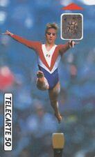 TK carte téléphonique Télécarte Coupe du Monde de Gymnastique 1992 Championnats du Monde PARIS-BERCY