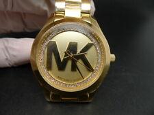 New Old Stock MICHAEL KORS Mini Slim Runway MK3477 Gold Plated Quartz Watch