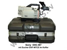 Sony dxc-m7 Studio cámara con buscador dxf-m7ce y maletín