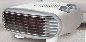 Status 2kw Flat Fan Heater - 2 Heat Settings - Adjustable Thermostat - Portable