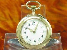 kleine Grosjean Freres Nachf. 14kt 585 Gold Open Face Taschenuhr / 29,9mm