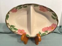 "Franciscan Divided Dish Desert Rose 11"" x 7""  England EXCELLENT Condition"