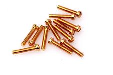 GRETSCH VINTAGE STYLE 6-40 SLOTTED FILTERTRON SCREW Set (12) Gold