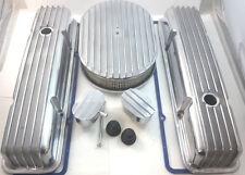 Nostalgic SB Chevy SBC Short Polished Finned Engine Dress Up Kit  350 1959-86 V8