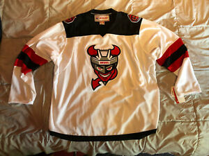 Binghamton Devils AHL CCM White Home Jersey Replica Adult 2X-Large NEW with Tags