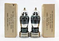 NIB Matched pair VT99 6f8g 6f8 Sylvania Military tubes 6sn7 triplett 3444