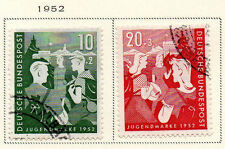 West Germany - 1952 Youth Program Semi-Postal set of 2. Scott #B325-B326 USED