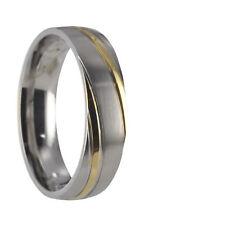 Edelstahl Ring Partnerring Freundschaftsring Ehering Trauring mit Gravur 10037