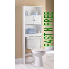 2PC OVER THE TOILET Space Saver Storage Bathroom Organizer Rack White
