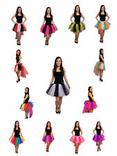 Black & White 8 Layer Tutu Skirt With Bustle 80s Fancy Dress Hen Party Costume Rainbow Child