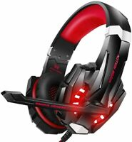 BENGOO G9000 Stereo Gaming Headset for PS4, PC, Xbox One Controller - Red