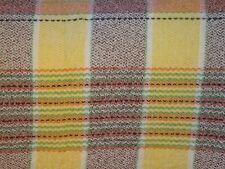 """Cuadros Vintage Con Flecos galés de Lana Manta/Cobertor-Amarillo Marrón Verde 86"""" X 73"""""""