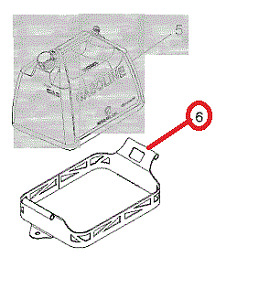 Genuine Polaris 2876379-458 Lock and Ride Fuel Can Mount Rack - black RZR