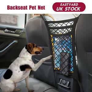 Car Back Seat Pet Dog Cat Divider Barrier Mesh Fence Net Organizer Puppy Guard'F