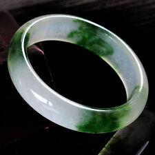 Joli Bracelet Jonc en Jade Vert Clair Translucide Teinté 62mm
