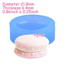 GEB148 21.8mm Macaron Silicone Mold Candy Making Resin Cabochon Sugarcraft Clay