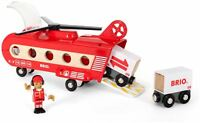 Brio CARGO TRANSPORT HELICOPTER Wooden Toy Vehicle BN