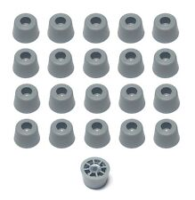 20 GREY MEDIUM EXTRA TALL ROUND RUBBER FEET BUMPERS - AMPS RADIO  - FREE S&H
