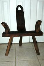 Antique Vintage Carved Wooden Wood Labor Birthing Chair