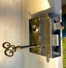 Wie antik Kastenschloss - sehr hochwertig + Schlüssel, Schloss rechts