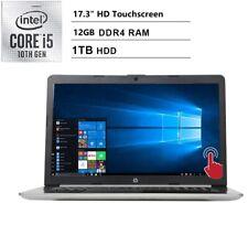 "HP 17.3"" HD Touchscreen Intel i5-10210U/12GB/1TB/DVD+RW/Win10 Laptop 17-by2075cl"