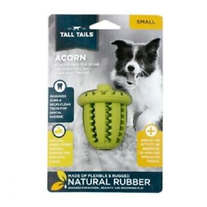"""Tall Tails 3"""" FLEXIBLE NATURAL RUBBER ACORN Dog Toy"""