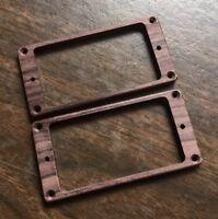 Guilford Indian Rosewood Flat Humbucker Pickup Ring Set - USA