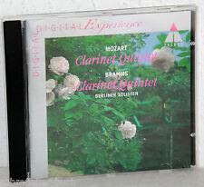 CD MOZART Clarinet Quintet / BRAHMS Clarinet Quintet - Berliner Solisten