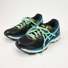 Asics Women's Shoes GT-2000 4 T657N Size 7 Black Blue Athletic Running Training