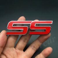 Red Metal SS Emblem Car Badge Sticker Decals For Chevrolet Chevy Impala Camaro