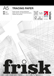 Frisk 23117225 Tracing Paper Pad A5 60gsm