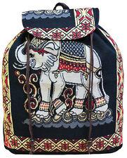 Thai Elephant Design Hippie Boho Beach Festival Rucksack, Backpack, Shoulder Bag