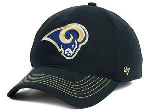 St. Louis Rams 47 Brand NFL Football Game Time 47 Closer Cap Hat L/XL Gray