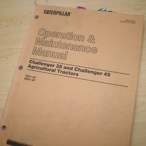 CATERPILLAR Challenger 35 45 Tractor Owner Operator Operation Maintenance Manual