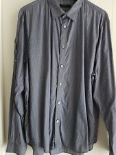 Mens L/SL Blue/White Cotton Shirt by Country Road, Sz XXL