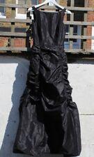 Preloved Pianoforte di Maxmara Designer Black Silk Long Dress Size UK8 Party