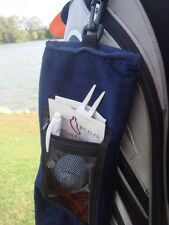 DELUXE VELOUR TRI-FOLDED GOLF TOWEL With Zipped Pocket