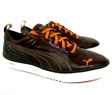 Puma Biofusion Leather Brown Orange Golf Shoes Spikeless Mens 10.5 FTWRF NICE