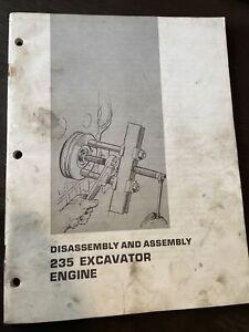 CATERPILLAR 235 Excavator ENGINE Disassembly Service Shop Manual repair Assem