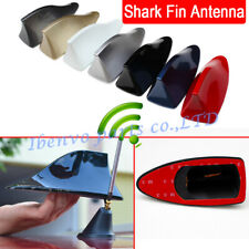 Car Roof Radio Shark Fin Signal FM AM Antenna Aerial Amplifier Booster Receiver