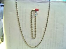 "20""  925 SILVER NECKLACE WITH MATCHING  925 SILVER 8"" BRACELET"