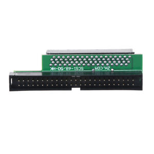 SCSI 68Pin 68-Pin Male to 50Pin 50-Pin Male Adapter Converter M-M DSALUKDIH2